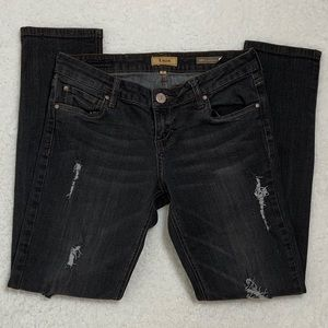 STS Blue Black Relaxed Boyfriend Distressed Jeans